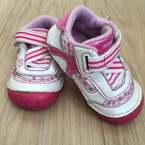 Stride Rite pink and white sneakers- 4 WIDE